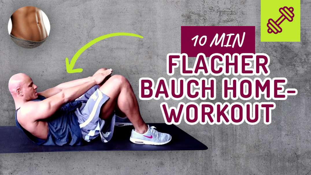 145 - Flacher Bauch Workout für Zuhause - 10 Minuten 10 Übungen. 2017