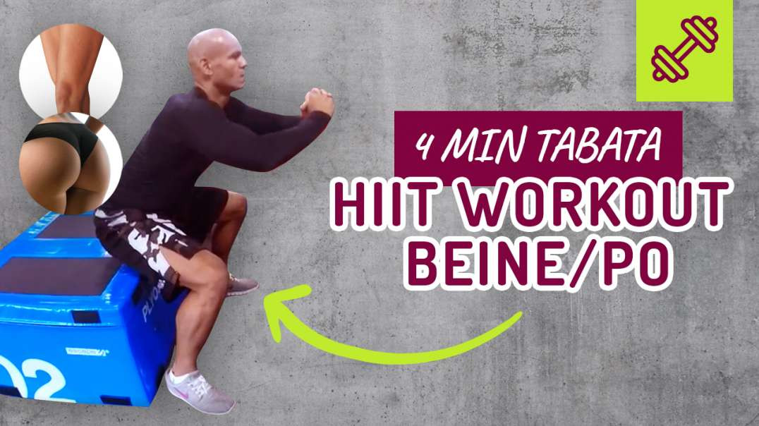 35 - HIIT WORKOUT Beine/Po 4 min Tabata.
