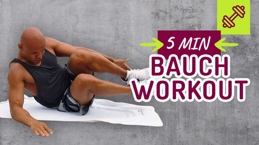 Das effektivste 5 min Bauch Workout Zuhause ohne Equipment