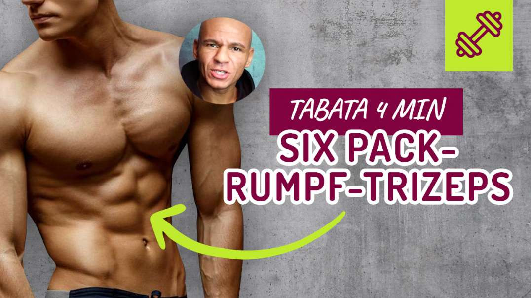 61 - TABATA 4 min - HOME WORKOUT. Six Pack- Rumpf- Trizeps - HIIT.