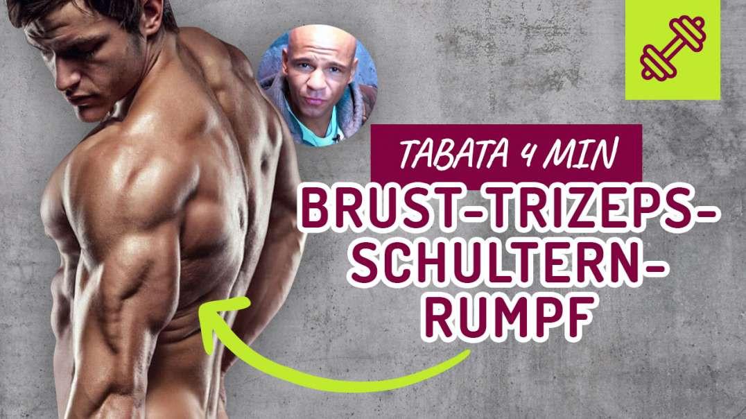 57 - WORKOUT - 4 min TABATA - HIIT - Brust- Trizeps- Schultern- Rumpf.  Coach Cecil 2017/2018