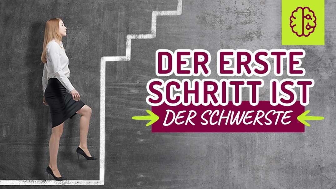 Der erste Schritt ist der SCHWERSTE ! Das ist der Grund ! #hamsterrad