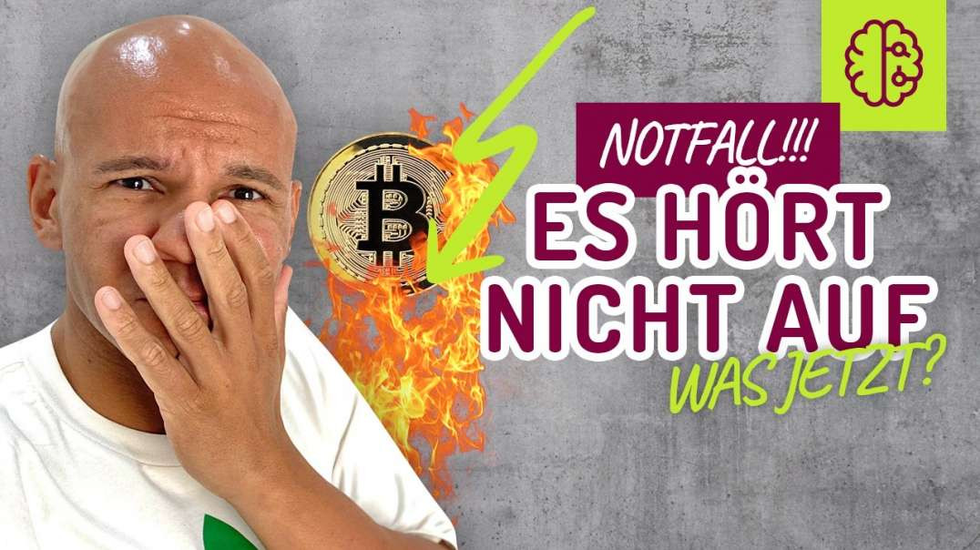 NOTFALL !! Bitcoin im freien FALL ! Was mache ICH SOFORT !?
