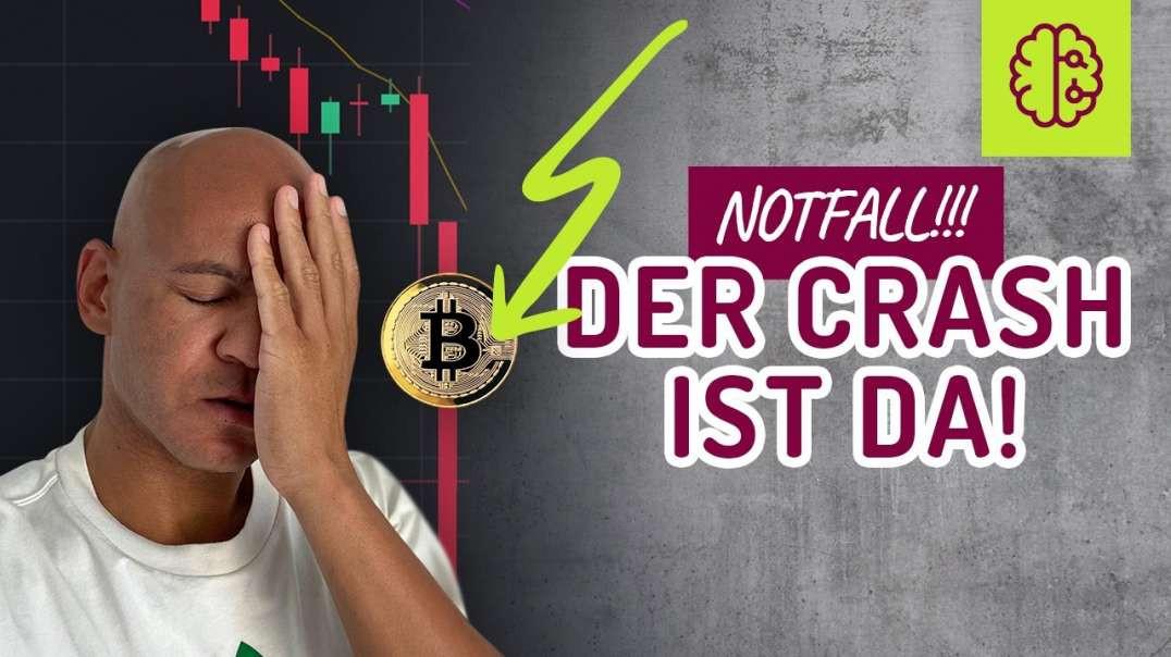 CRASH !!! Bitcoin NOTFALL ! freier Fall, Schnell gucken !! Coach Cecil