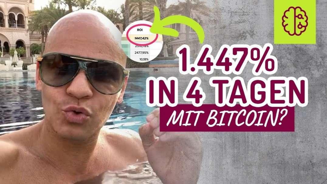 �1.447% GEWINN in nur 4 Tagen mit Bitcoin !?? Halt dich fest !!! Coach Cecil