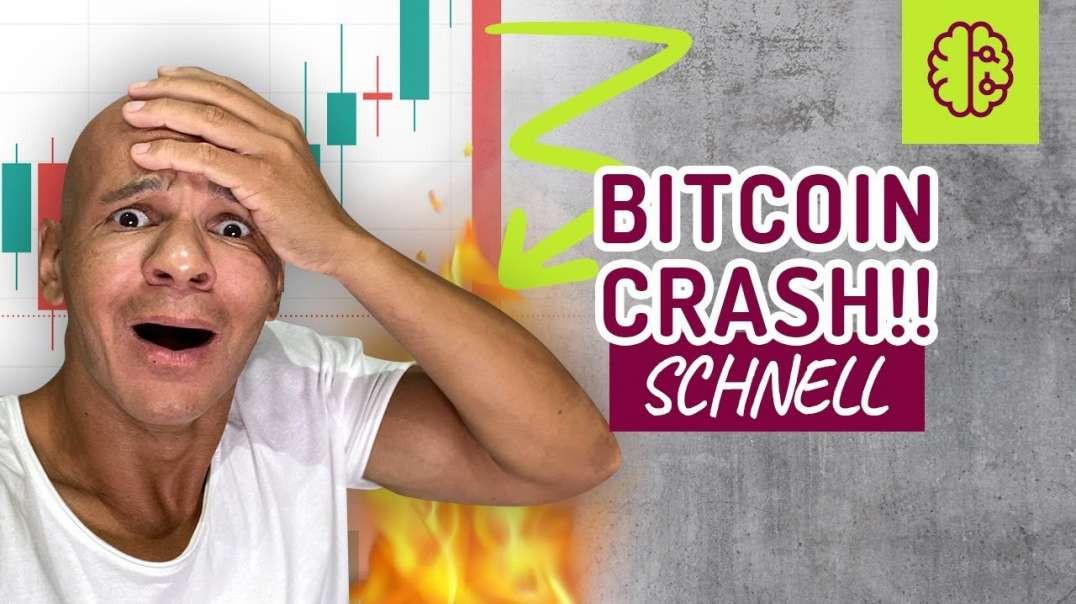 WARNUNG ! Bitcoin CRASH !!! Was JETZT !??? NOTFALLVIDEO